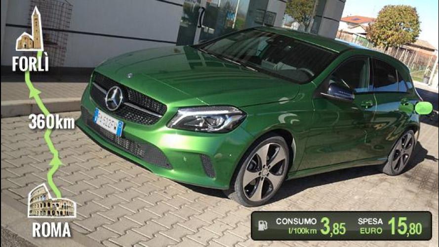 Mercedes A 180 d, la prova dei consumi reali