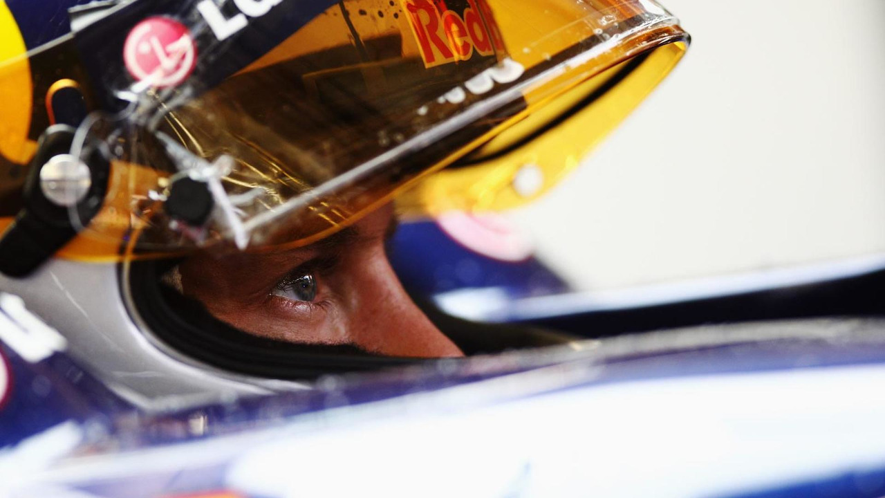 Sebastian Vettel of Germany and Red Bull Racing prepares to drive during practice for the Belgian Formula One Grand Prix at the Circuit of Spa Francorchamps