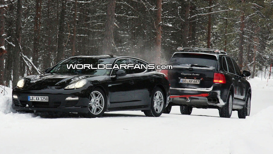 Porsche Panamera Gets Stuck in Snow During Testing