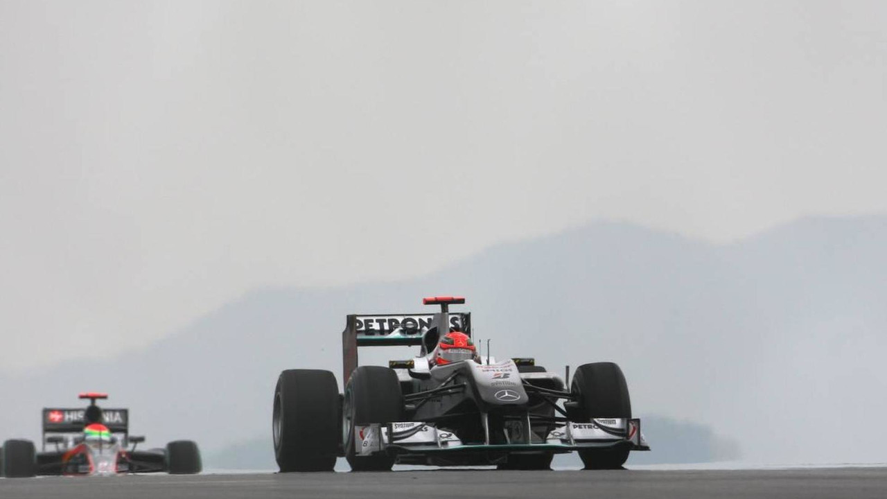 Michael Schumacher (GER), Mercedes GP - Formula 1 World Championship, Rd 17, Korean Grand Prix, Saturday Qualifying, 23.10.2010 Yeongam, Korea