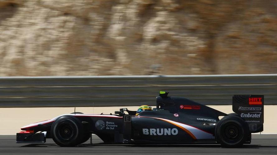 GP2 cars on Senna's pace in sunny Bahrain