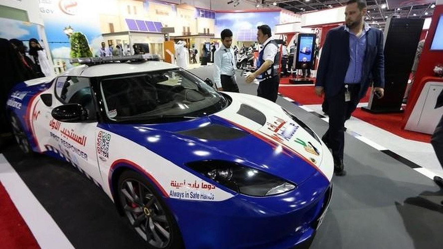 Dubai paramedics get Lotus Evora first response vehicle