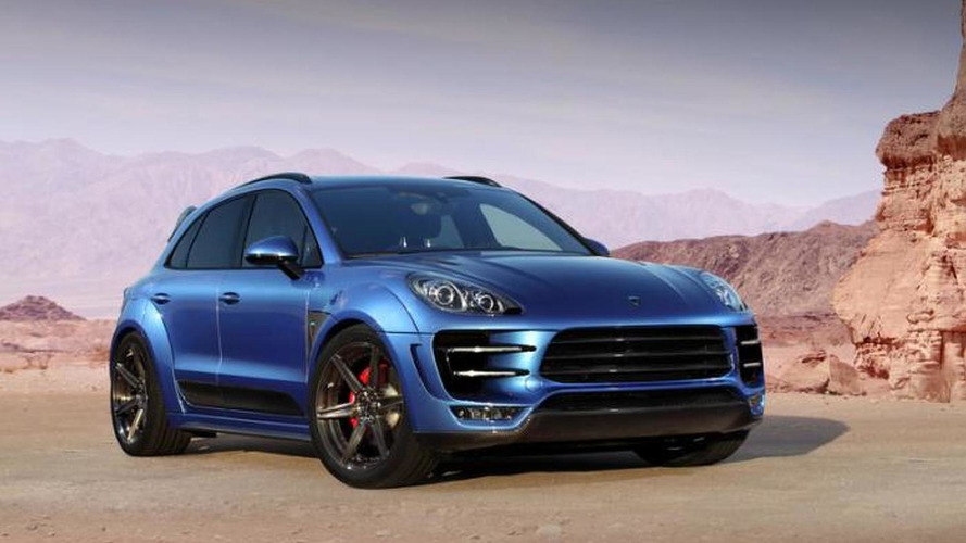 Porsche Macan aerodynamic kit by Top Car showcased with new wallpaper quality photo series