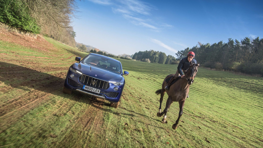 Grand National: Maserati Levante Races A Horse