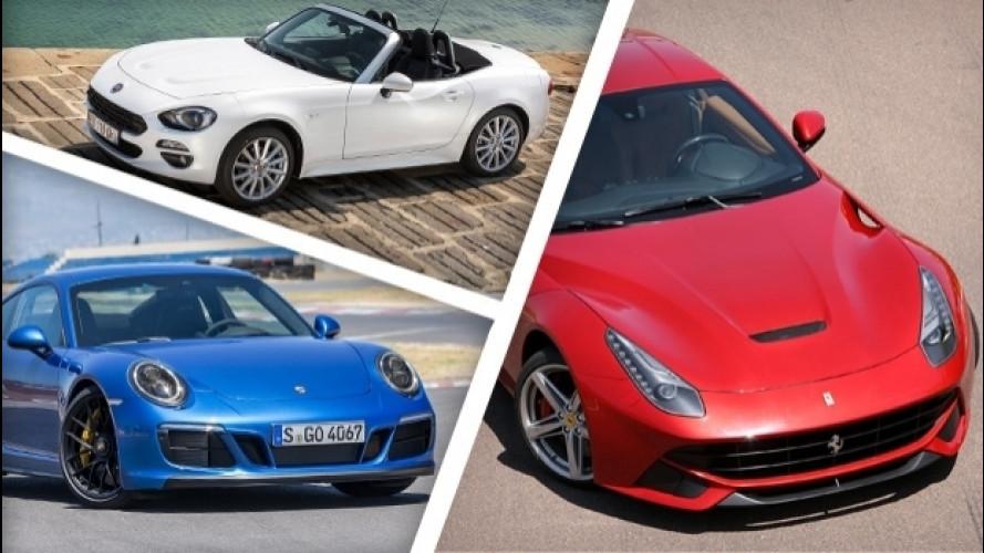 Supercar, sportive e auto di lusso, ecco le più vendute