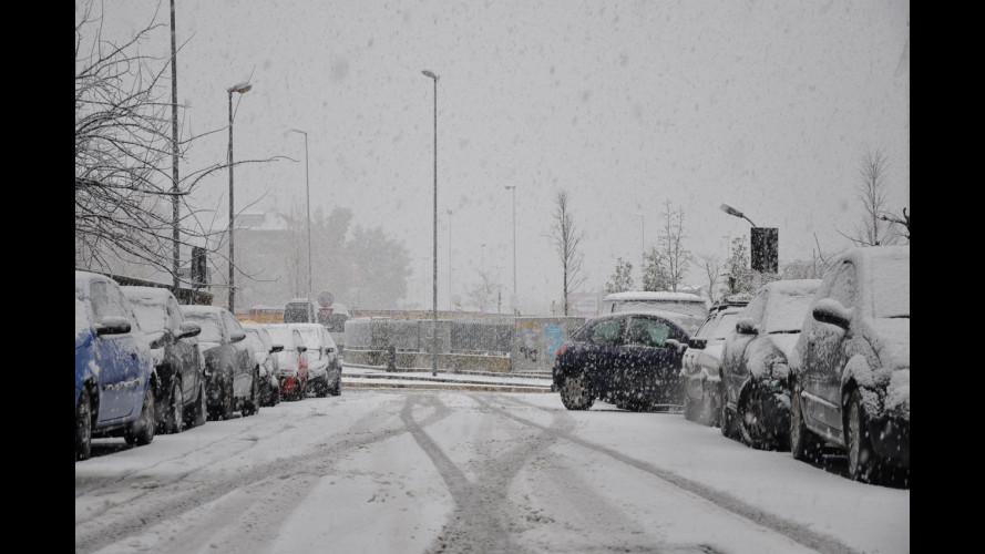 Neve a Roma, ZTL di nuovo attiva