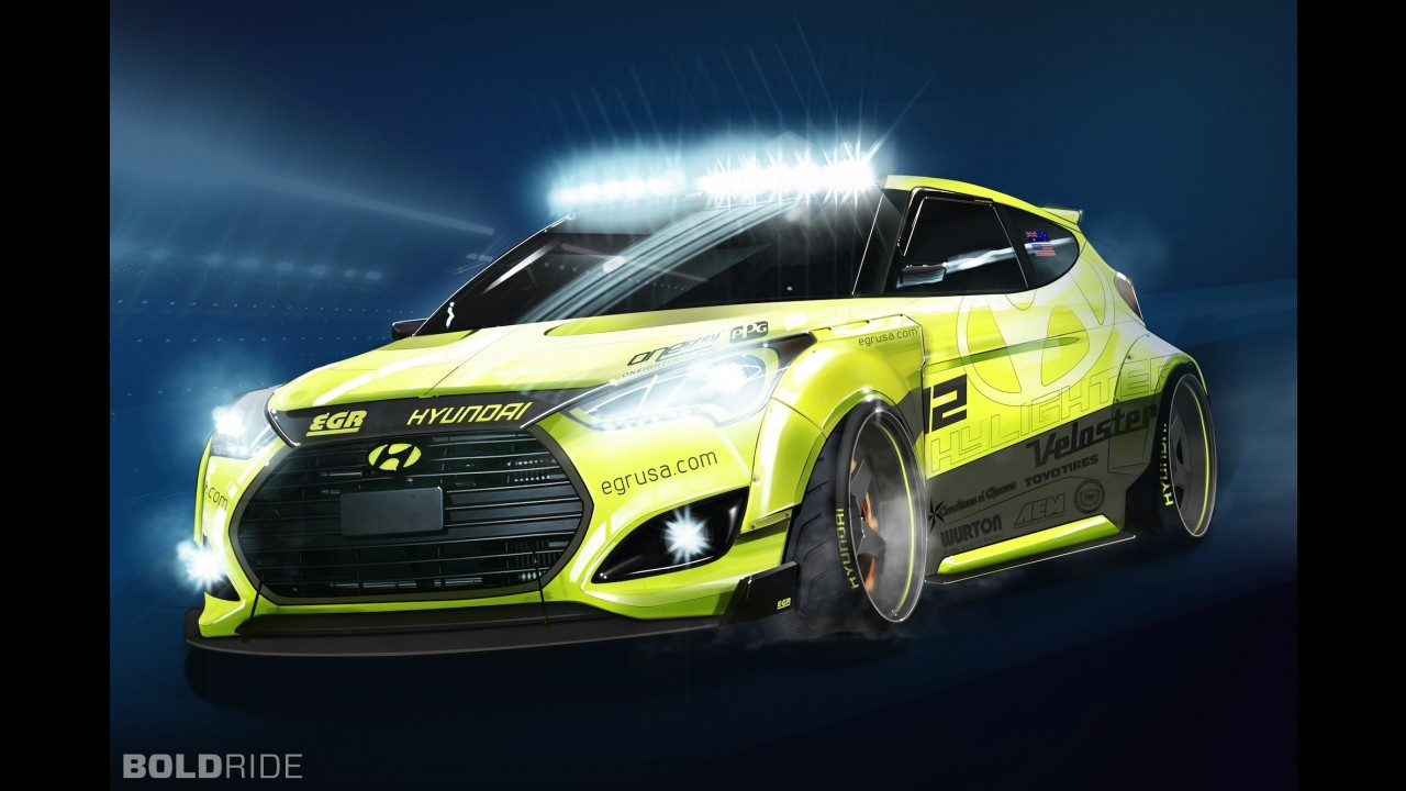 Hyundai Veloster Turbo Yellowcake Night Racer Concept