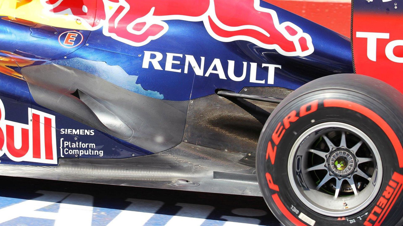 Sebastian Vettel Red Bull Racing RB8 exhaust detail 09.06.2012 Canadian Grand Prix