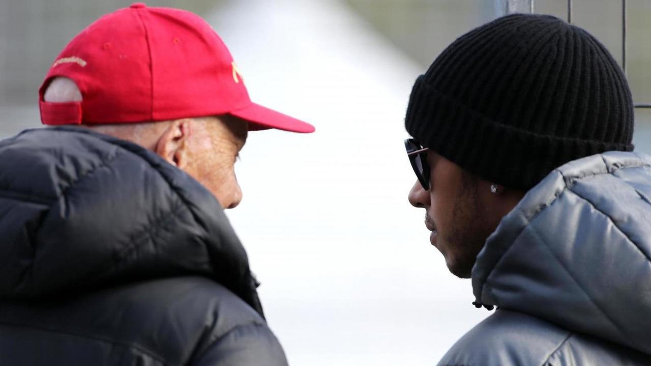 Niki Lauda (AUT) and Lewis Hamilton (GBR), 29.01.2014 / XPB