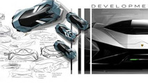 Lamborghini Diamante concept artist rendering for the year 2023 [video]