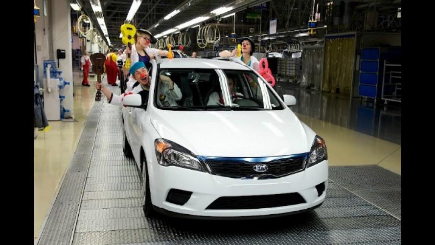 Kia comemora 1 milhão de unidades produzidas na Europa