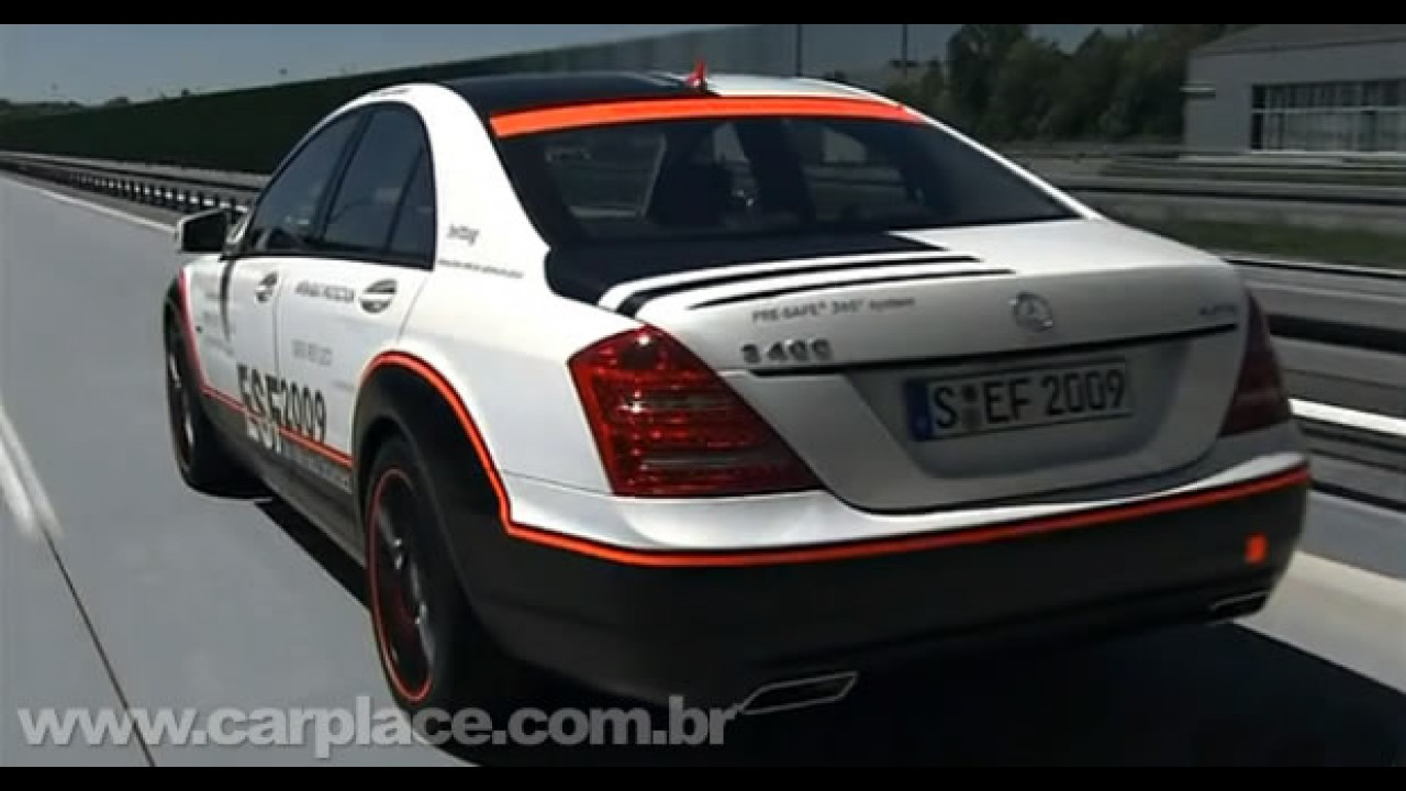 Mercedes S 400 ESF Concept: Vídeo mostra equipamentos do carro mais seguro do mundo
