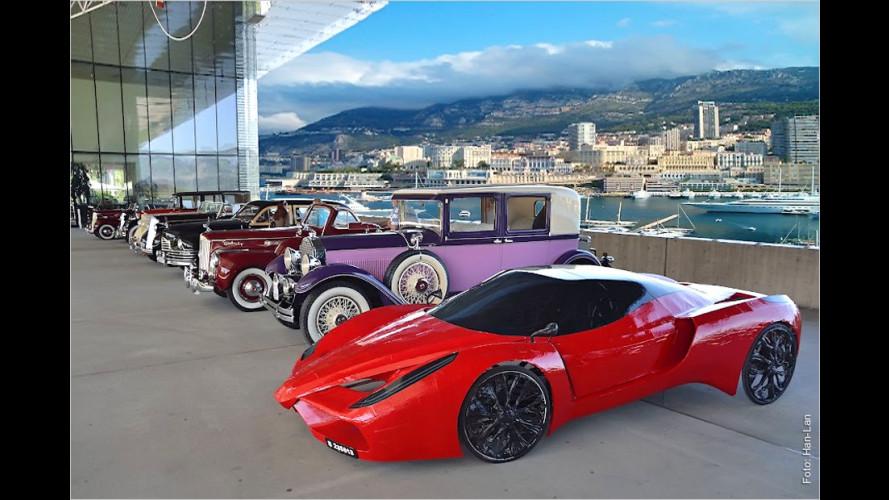 Oben Ferrari, unten Fahrrad