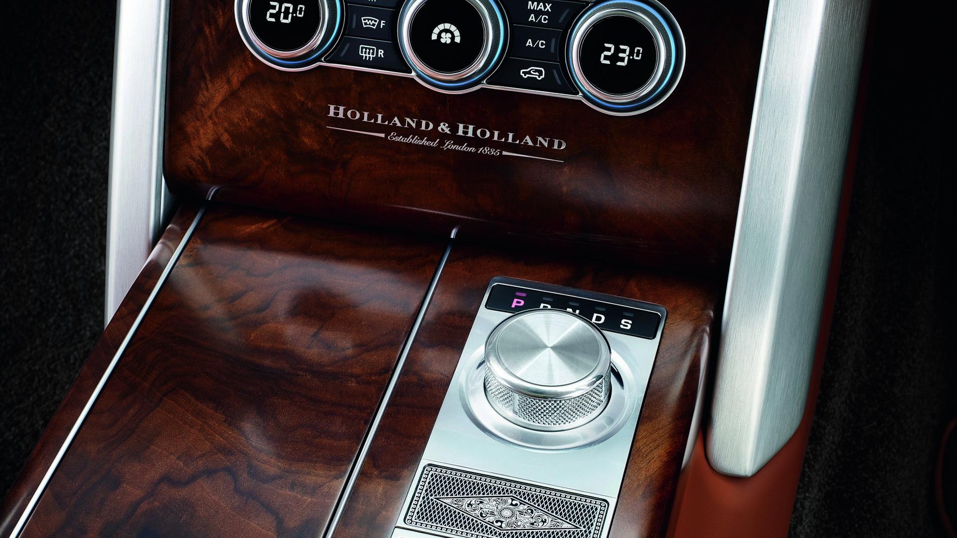 Отделка салона деревом Range Rover