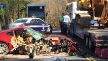 Did a former prime minister crash this Ferrari 599?