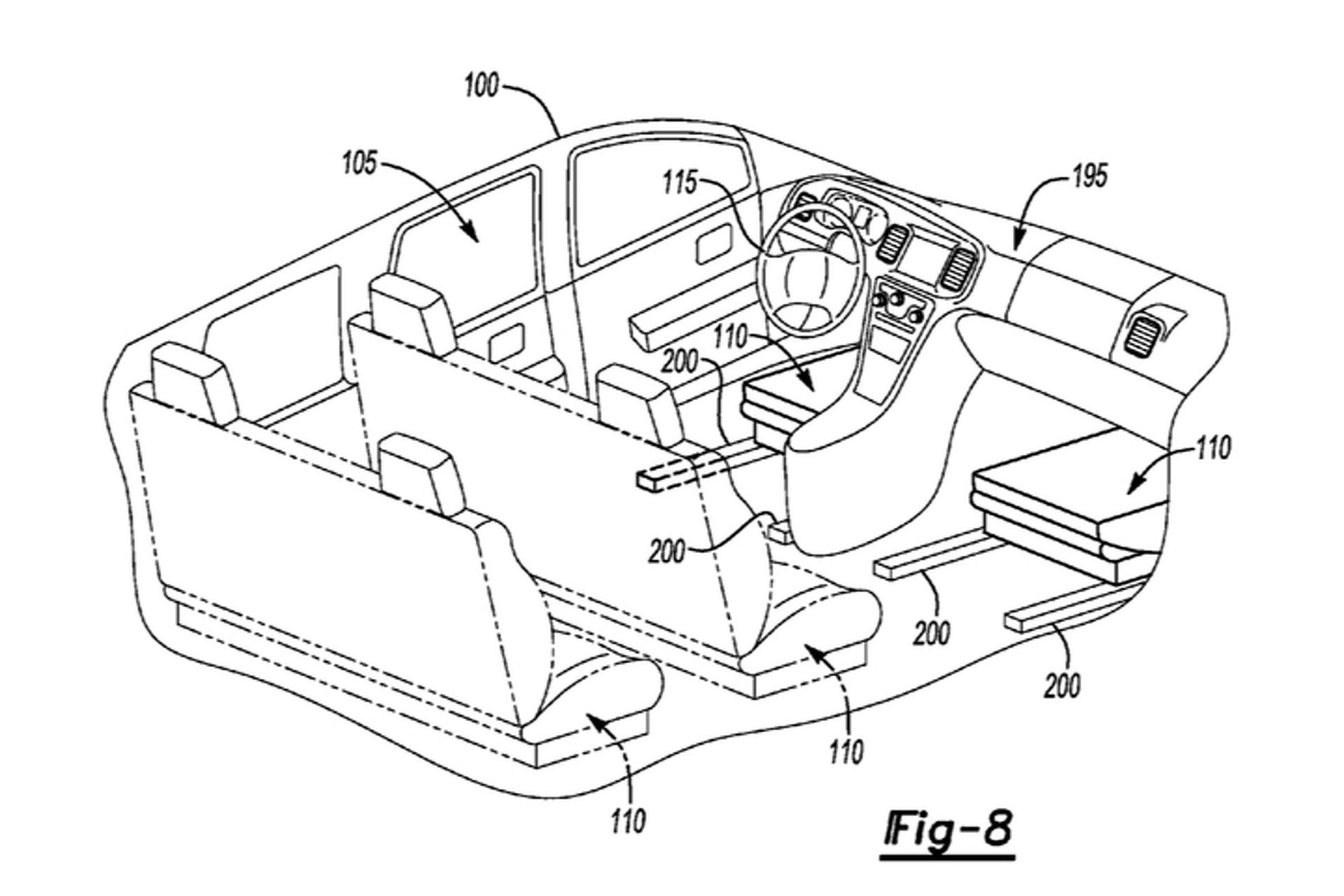 New Ford Patent Reveals Shape-Shifting Car Interior