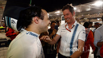 Rob Smedley, Head of Vehicle Performance, Williams, and the team say a fond goodbye to Felipe Massa, Williams, after his final race for the team and in F1