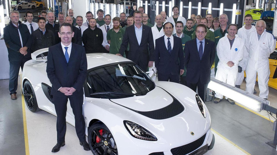 Lotus builds their 1000th Exige S
