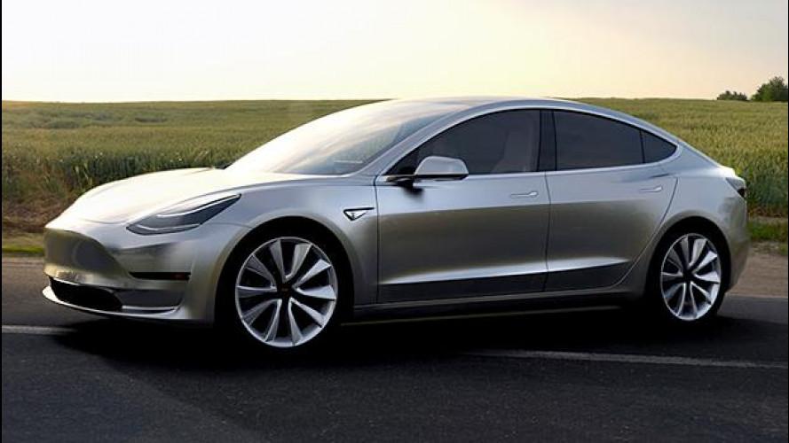 Tesla Model 3, sono 325.000 le prenotazioni