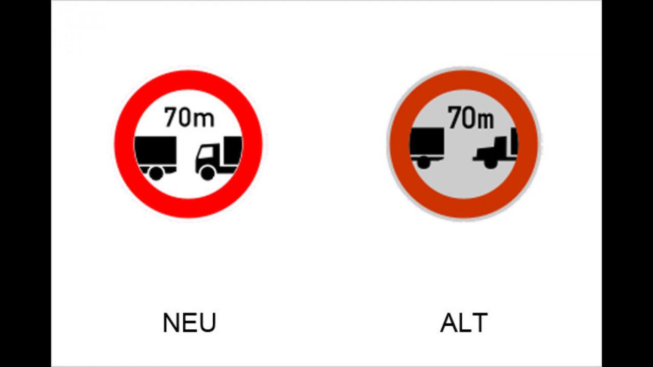 Verbot des Fahrens ohne einen Mindestabstand