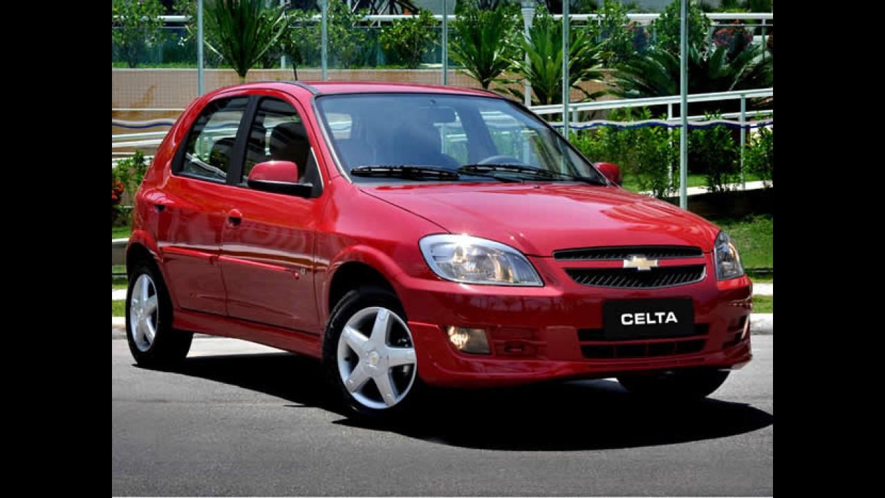 Chevrolet Celta oferecerá opção de airbag duplo na linha 2013