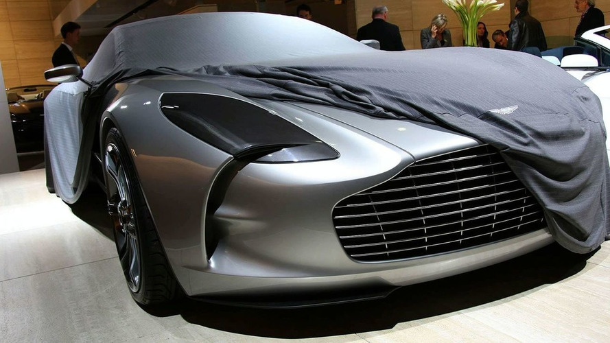 Aston Martin Give Press a Sneak Peak of one-77 Supercar at Paris Motor Show