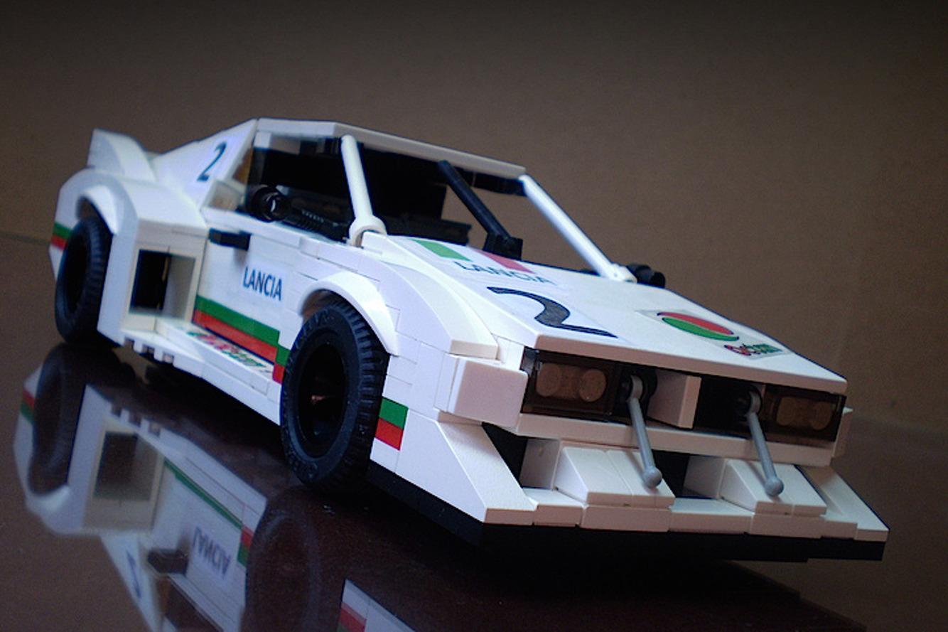 LEGO Lancia Montecarlo Racecar is Boxy Perfection