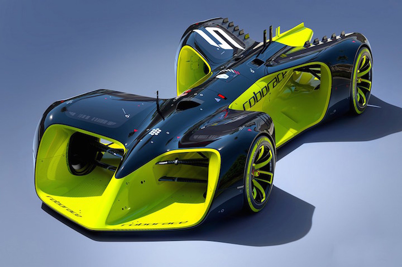 Out-of-This-World Roborace Concept Car Previews Racing's Future