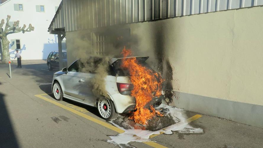 Kigyulladt egy limitált példányszámban gyártott Audi A1 Quattro