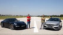 Porsche 911 Carrera 4 ile Mercedes-AMG A45 yarışıyor!