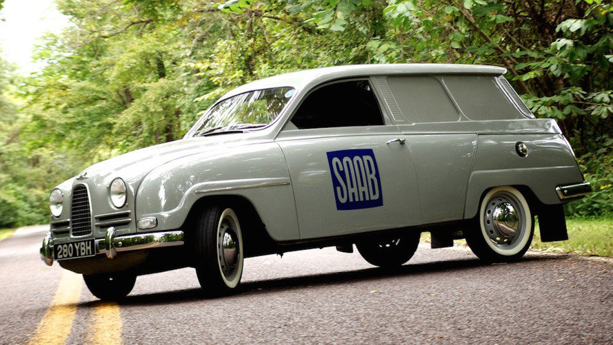 1962 Saab 95 Panel Van is sensible, Swedish, and for sale
