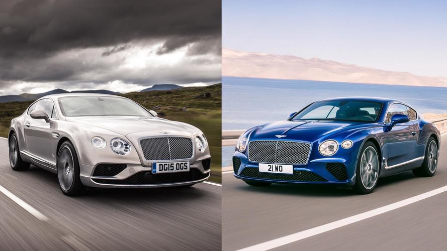 2018 Bentley Continental GT'yi selefiyle karşılaştırıyoruz
