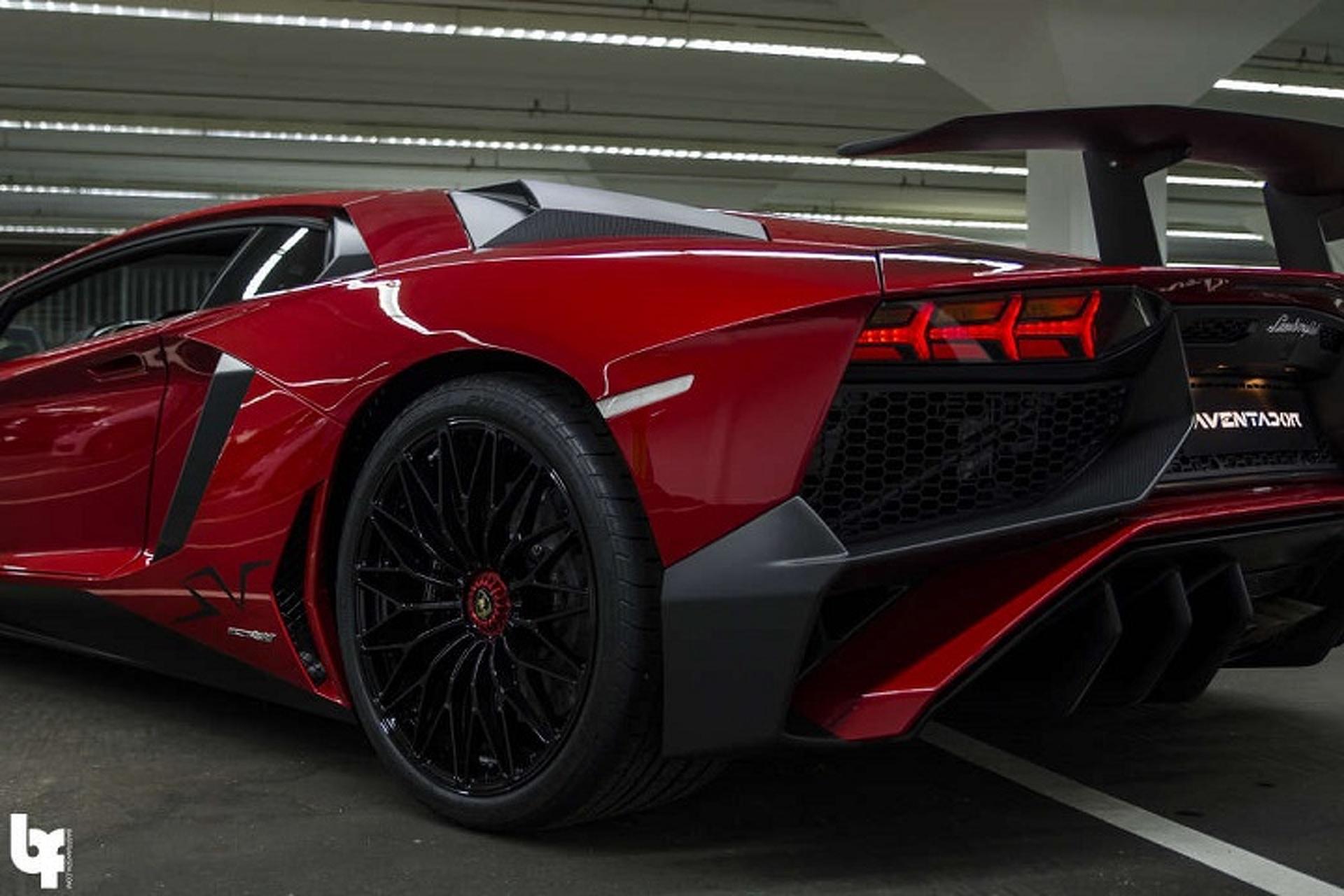 DJ Afrojack and His Blood Red Lamborghini Aventador SV