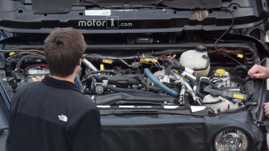 2018 Jeep Wrangler turbo-four engine spied