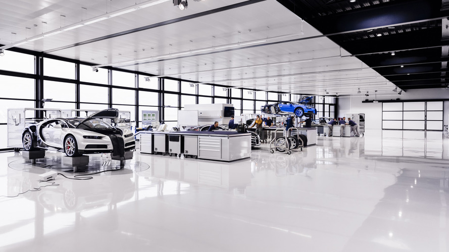 Bugatti Chiron factory clean enough to eat caviar off the floor