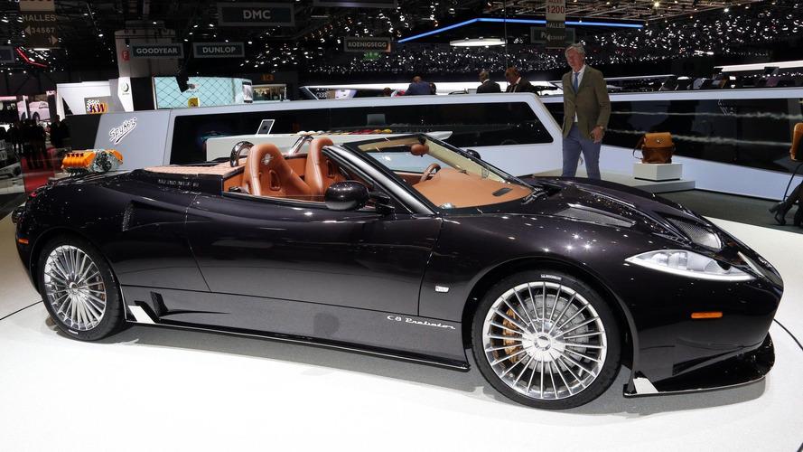 Spyker C8 Preliator Spyder revealed with Koenigsegg V8 engine