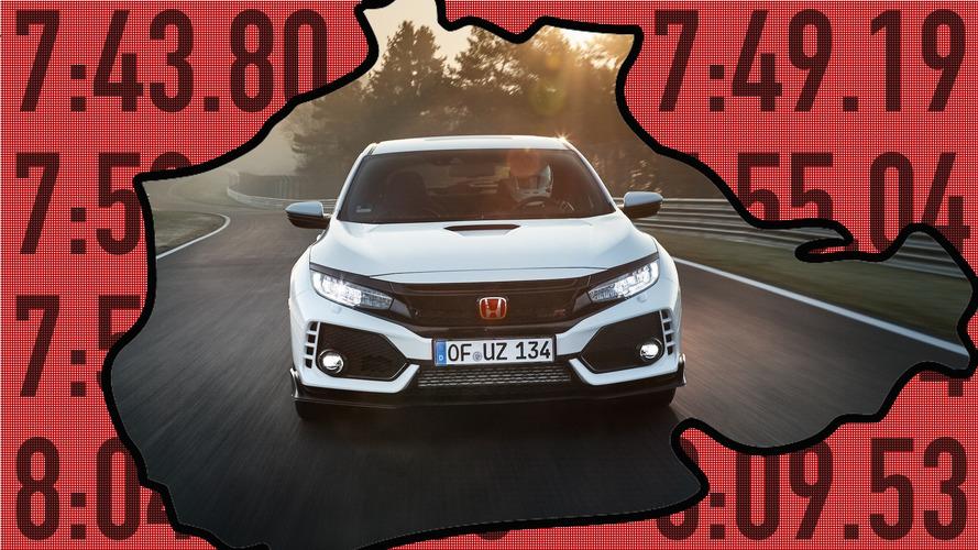10 sportives qui sont moins rapides que la Civic Type R sur le Nürb'