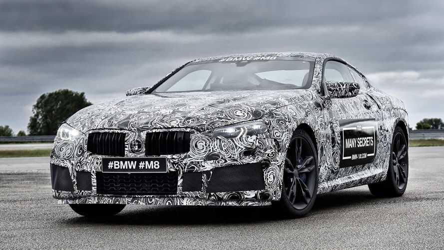 BMW M8 camouflaged prototype