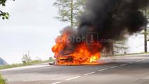 2019 Audi A7 Test Car Fire