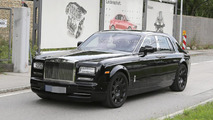 Rolls-Royce Phantom successor test mule spied with heavily camouflaged interior