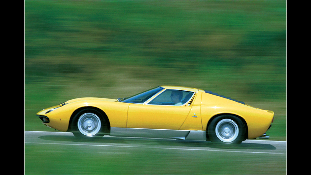 Platz 3: Lamborghini Miura, 1.050 Millimeter Höhe