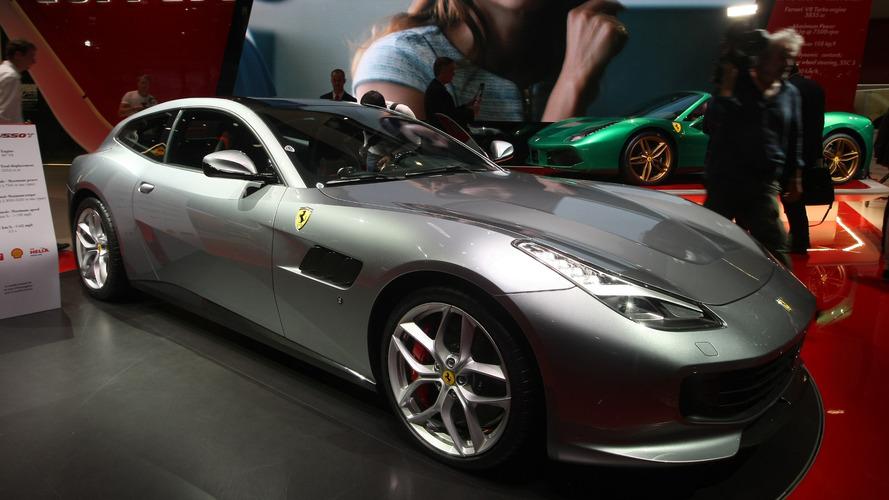 Ferrari GTC4Lusso T shows off its V8 engine in Paris