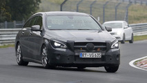 Mercedes-Benz CLA Shooting Brake facelift spy photo