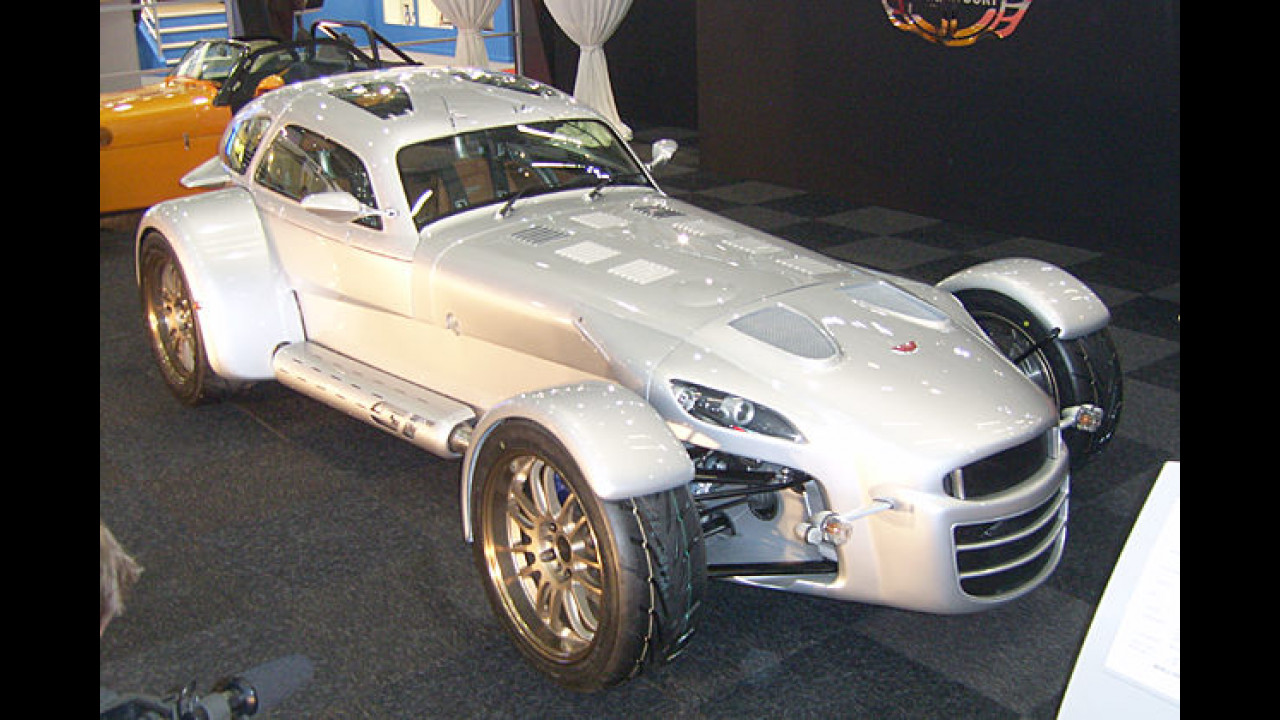 Ausgefallen: Der D8 GT vom Kleinserien-Hersteller Donkervoort wiegt nur 650 Kilogramm