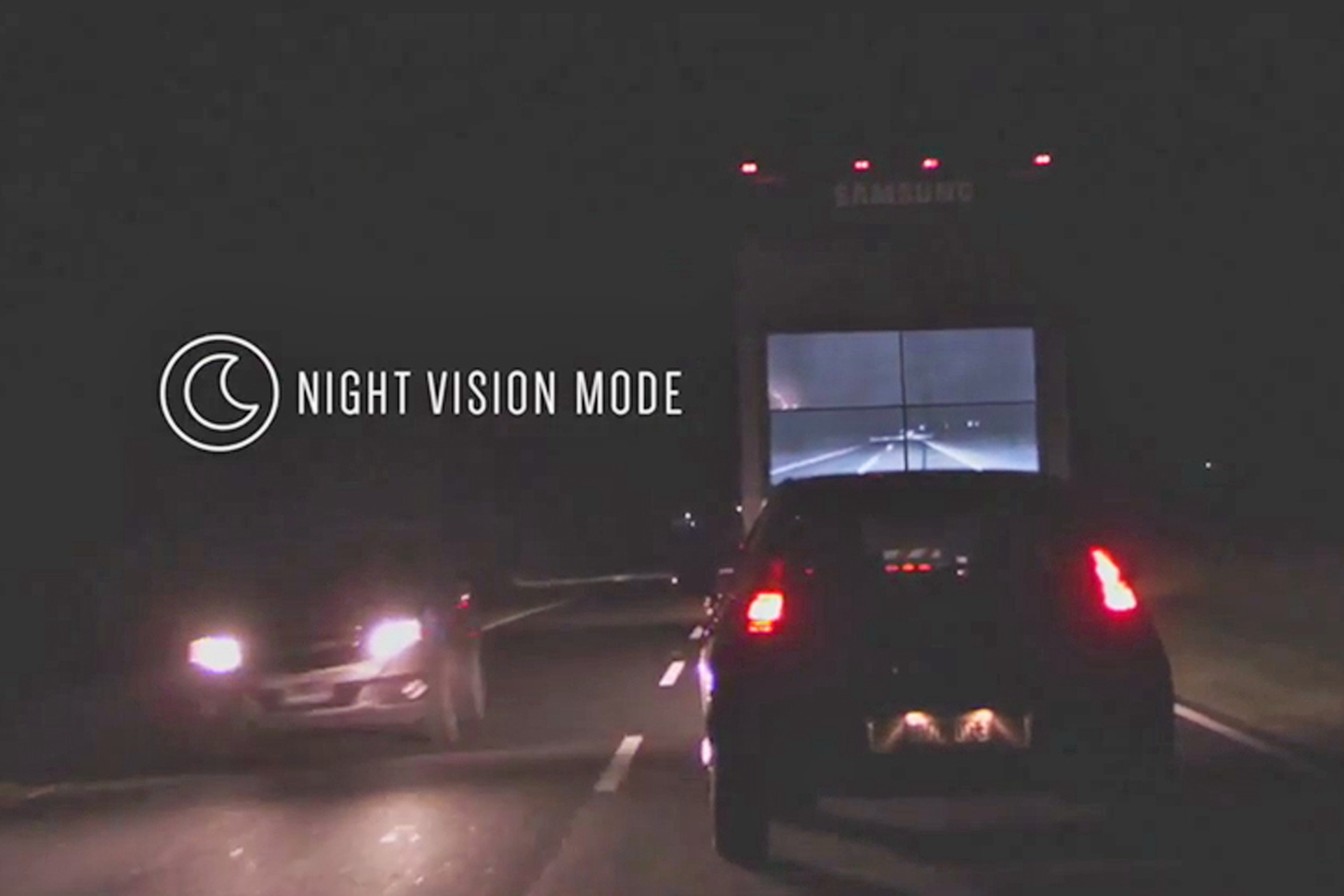 This Innovative Samsung Semi-Truck Let's You See Right Through It