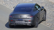 Mercedes C-Class Coupe spy photo