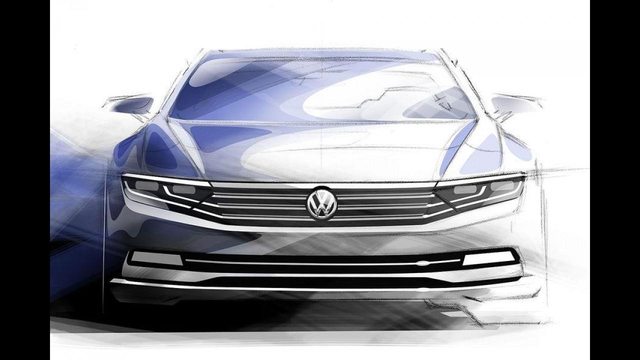 Mais um teaser do novo Passat é revelado pela Volkswagen