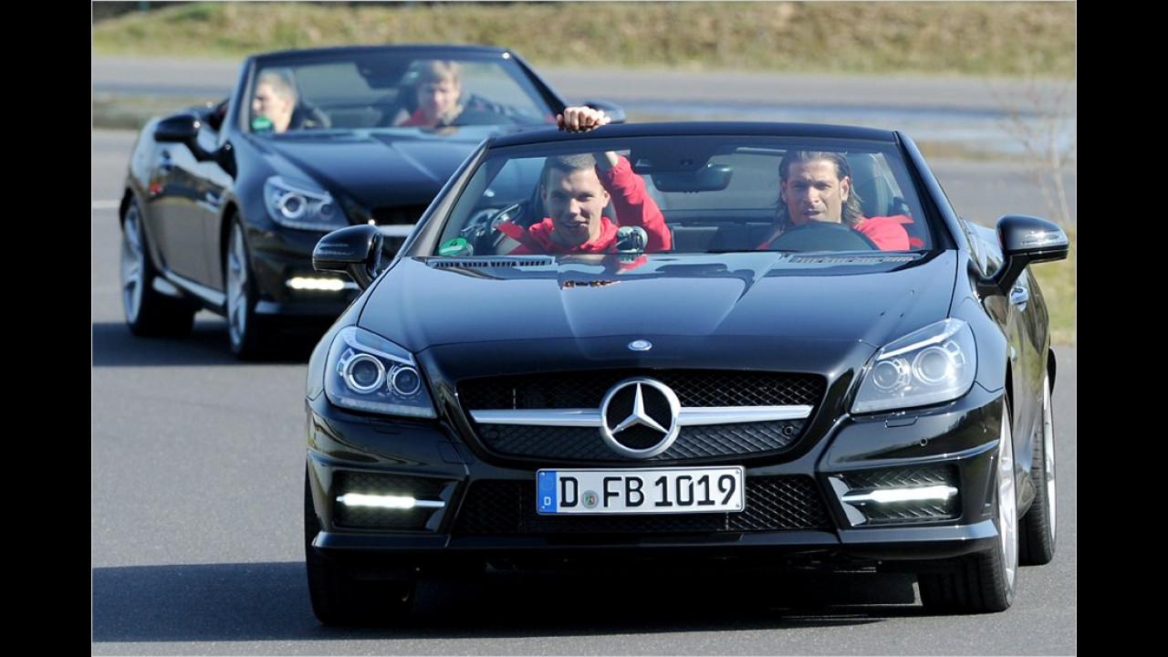 Lukas Podolski und Tim Wiese