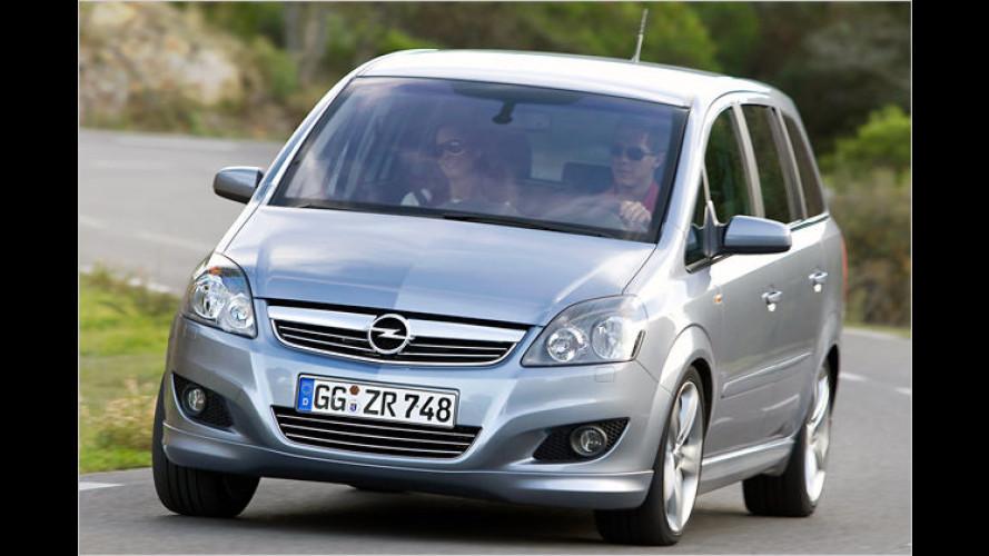139 Gramm: Opel optimiert den Zafira 1.7 CDTI