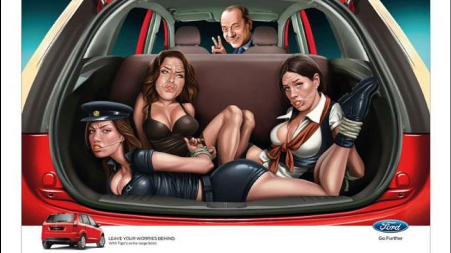 Berlusconi chiude nel bagagliaio della Ford Figo Nicole Minetti e Ruby